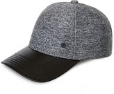 Gents Evan Marled Leather Brim Cap