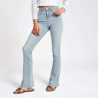 River Island Womens Light Blue high rise bootcut flared jeans