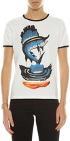 J.W.Anderson T-shirt Barracuda In Jersey Con Profilo A Contrastomade In Portugal
