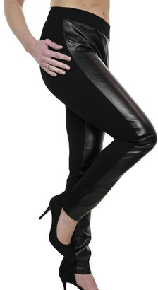 Ice Women's Shiny Stretch Faux Leather Leggings Ladies Plus Size Elasticated Wet Look Spandex Pull On Slim Fit Trousers Black 12-22 (20)