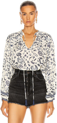 Natalie Martin Lizzy Shirt in Wildflower Blue   FWRD