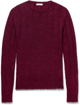 Valentino - Cable-knit Mohair-blend Sweater