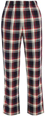 Maje Checked Twill Straight-leg Pants
