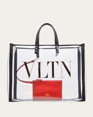 Valentino Small Vltn Print Transparent Tote Bag Women Transparent Pvc - Polyvinyl Chloride 100% OneSize