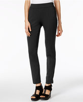 Eileen Fisher Organic Cotton Stretch Jersey Slim-Fit Pants