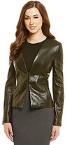 Antonio Melani Fine Leather Nora Kiss-Front Jacket