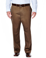 Haggar Big & Tall Work To Weekend Khakis - Classic Fit, Flat Front, HIdden Expandable Waistband
