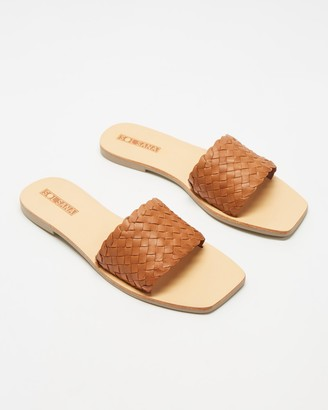 Sol Sana Women's Brown Flat Sandals - Marigold Slides - Size 37 at The Iconic