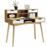 Asstd National Brand Convenience Concepts Designs2Go Oslo Desk With Hutch