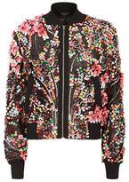 Elie Saab Floral Sequin Bomber Jacket