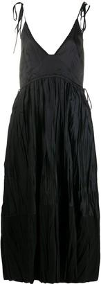 Jil Sander Crinkle-Effect Midi Dress