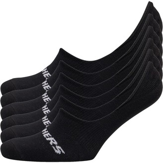Skechers Six Pack Basic Footie Socks Black