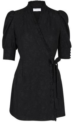 Hofmann Copenhagen Camille Short Black Wrap Dress - small