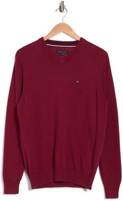 Tommy Hilfiger Taft Solid V-Neck Sweater