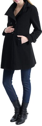 Kimi and Kai Penelope Wool Blend Maternity Trench Coat