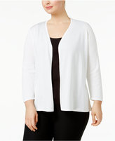 Alfani Plus Size Lace-Back Open-Front Cardigan, Only at Macy's