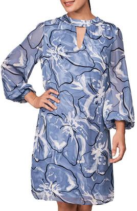 Blue Illusion Back Necktie Dress Assorted