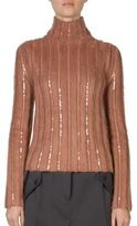 Nina Ricci Embellished Mohair-Blend Turtleneck Sweater