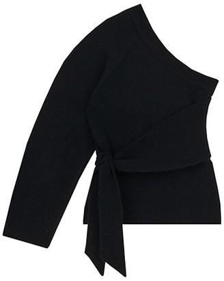 Nanushka Cleto One-Sleeve Asymmetric Sweater