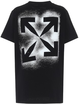 Off-White Logo oversized cotton-jersey T-shirt