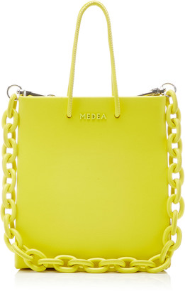 Medea Short Chain-Detailed Leather Tote Bag