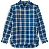 Ralph Lauren Girls' Plaid Drop-Hem Shirt - Big Kid