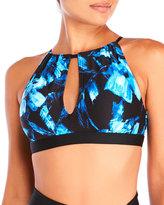 Carmen Marc Valvo Caribbean Breeze Elizabeth High Neck Bikini Crop Top