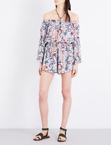 Free People Pretty and Free woven off-the-shoulder playsuit