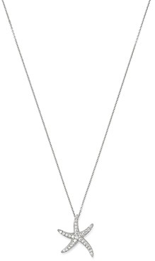 Bloomingdale's Diamond Pave Starfish Pendant Necklace in 14K White Gold, 18, 0.10 ct. t.w. - 100% Exclusive