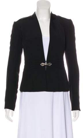 Ralph Lauren Black Label Collarless Collar Blazer