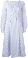 J.W.Anderson striped midi dress - women - Cotton - 6