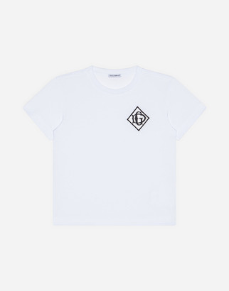 Dolce & Gabbana Jersey T-Shirt With Satin Detail