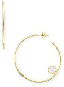 Argentovivo Disk Detail Hoop Earrings