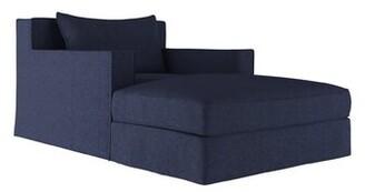 17 Stories Letendre Velvet Chaise Lounge 17 Stories Upholstery Color: Plush Velvet Oyster
