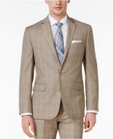 Ryan Seacrest Distinction Men's Slim-Fit Tan Plaid Jacket, Created for Macy's