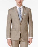 Ryan Seacrest Distinction Men's Slim-Fit Tan Plaid Jacket, Only at Macy's
