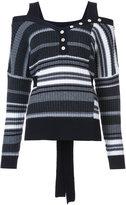 Derek Lam 10 Crosby striped knitted sweater - women - Wool - XS
