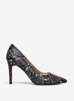 Dorothy Perkins Womens Wide Fit Multi Colour Snake Print Pu 'Danielle' Court Shoes