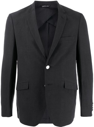Tonello Contrast-Button Single Breasted Blazer