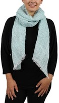 Moschino D10 V1201 Col.005 Turquoise Mesh Scarf.