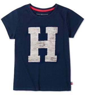 Tommy Hilfiger Little Girls Flip Sequin H Logo T-Shirt