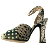 Marc Jacobs Grey Exotic leathers Sandals