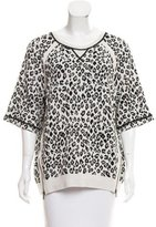 Marc by Marc Jacobs Brocade Leopard-Patterned Sweater