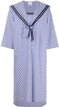 Sjyp Polka-Dot Sailor Dress