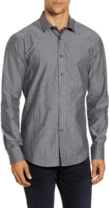 Vince Camuto Slim Fit Dobby Stripe Button-Up Shirt