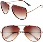 Thumbnail for your product : Quay All In 56mm Aviator Sunglasses