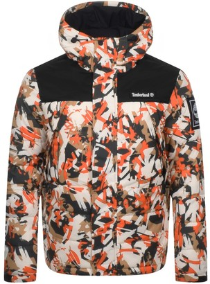 Timberland Camo Puffer Jacket Orange