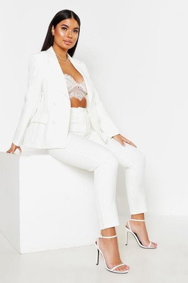 boohoo Petite Button Tailored Pants