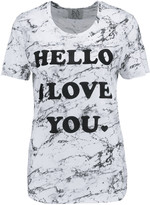 Zoe Karssen Printed modal and cotton-blend T-shirt