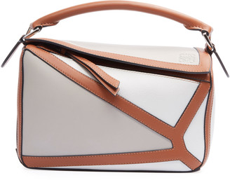 Loewe Puzzle Two-Tone Leather Satchel Bag